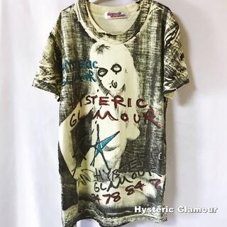HYSTERIC GLAMOUR - 【Hysteric Glamour】ペイント DoodleART 総柄 Tシャツ