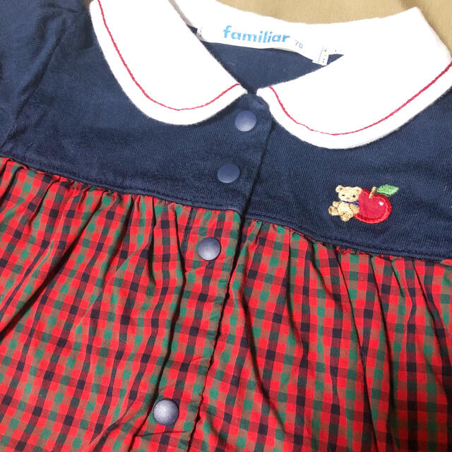 familiar(ファミリア)のファミリア ロンパース カバーオール  70 キッズ/ベビー/マタニティのベビー服(~85cm)(ロンパース)の商品写真