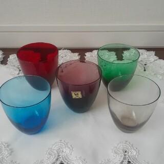 おしゃれな夏グラス KAGAMI CRYSTAL ハイカラー グラス 5色セット