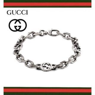 Gucci - 再入荷!新品 GUCCI インターロッキングG シルバー ブレスレット 18cm