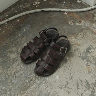 TODAYFUL - Todayful Leather Belt Sandals ブラウン