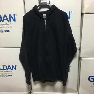 ギルタン(GILDAN)のGILDANギルダンのジップアップ★フルジップ★パーカー★ブラック黒XLサイズ(パーカー)