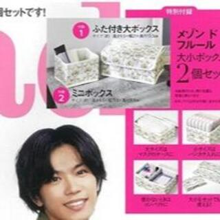 steady. 6月号【付録のみ】 花柄収納ボックス 2個セット