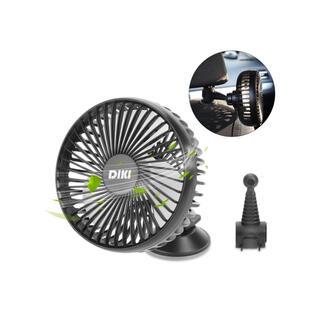 車載扇風機 吸盤 USB給電 3段階風量 回転可能 バックル固定 前後部座席送風(扇風機)