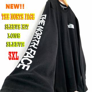 ザノースフェイス(THE NORTH FACE)の人気モデル ☆ 3XL ~ XXL ノースフェイス ロンT 黒 ビッグサイズ(Tシャツ/カットソー(七分/長袖))