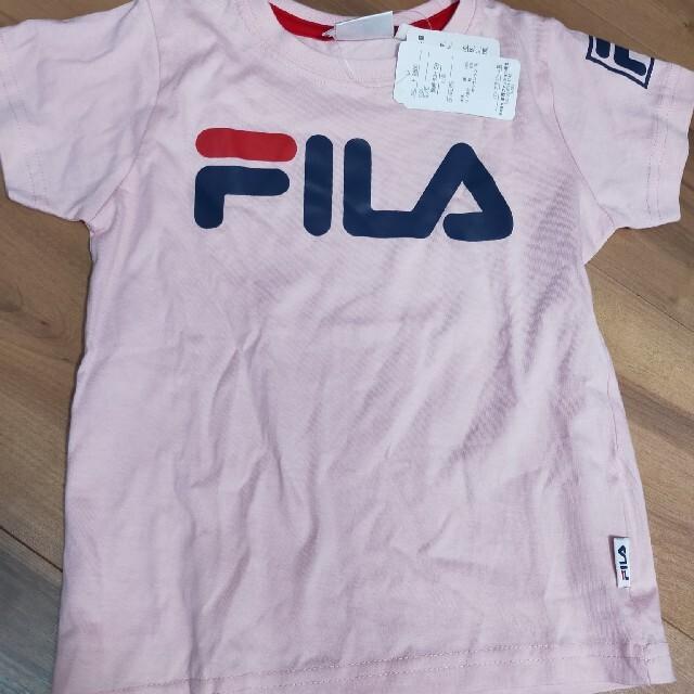 FILA(フィラ)のFILAフィラ新品半袖Tシャツ夏服110100 キッズ/ベビー/マタニティのキッズ服女の子用(90cm~)(Tシャツ/カットソー)の商品写真
