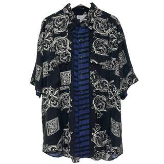 フランクリーダー(FRANK LEDER)のデッドストック 80's GOOUCH グーチ シャツ シルク 柄 半袖 L(シャツ)
