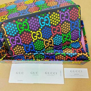 Gucci - 【グッチ】GUCCI GG サイケデリック ジップアラウンド 長財布 男女共有
