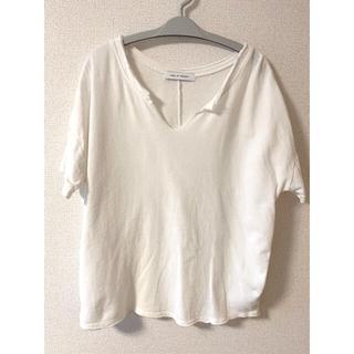 アズールバイマウジー(AZUL by moussy)のAZUL 100%コットントップス(Tシャツ(半袖/袖なし))