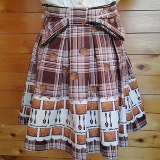 アンクルージュ(Ank Rouge)のAnk Rouge アンクルージュ スカート クッキー柄 リボン(ひざ丈スカート)