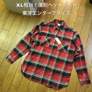 トウヨウエンタープライズ(東洋エンタープライズ)のXL相当!復刻ヘッドライト 長袖ネルチェックシャツ HD24500 東洋(シャツ)