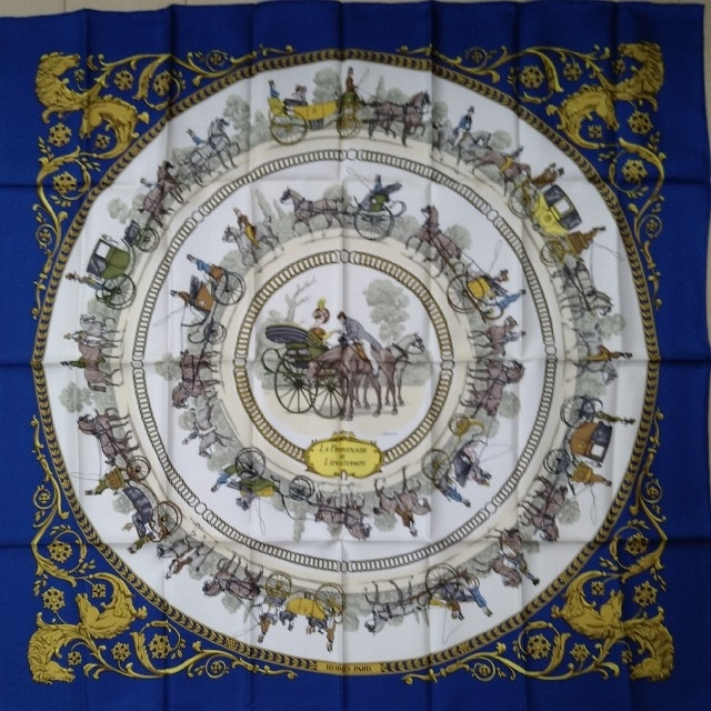 Hermes(エルメス)の新品未使用 HERMES エルメス スカーフ ストール カレ90 ハンドメイドのファッション小物(スカーフ)の商品写真