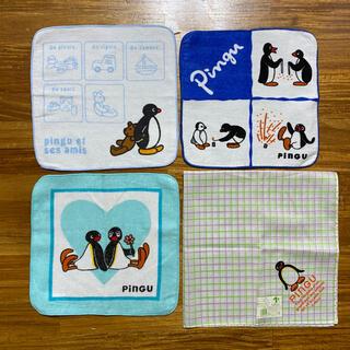 pingu  ピングー ミニハンカチ3枚+ハンカチセット