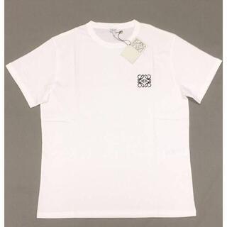 ロエベ(LOEWE)の新品 LOEWE アナグラム ロゴ 刺しゅう コットン Tシャツ ホワイト(Tシャツ/カットソー(半袖/袖なし))