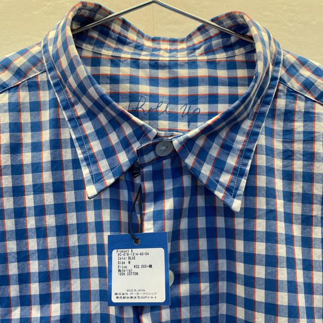 PORTER(ポーター)のポータークラシック トリコロールギンガム ロールアップシャツブルー M メンズのトップス(シャツ)の商品写真