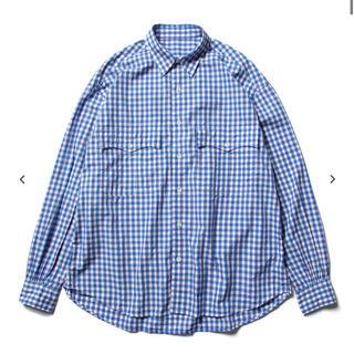 PORTER - ポータークラシック トリコロールギンガム ロールアップシャツブルー M