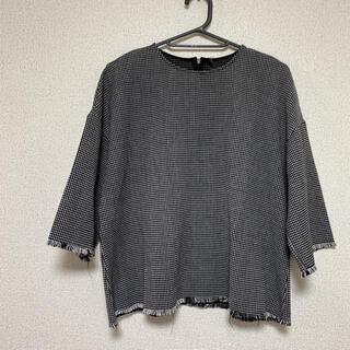 ザラ(ZARA)のZARA☆裾切りっぱなしデザインカットソー(カットソー(半袖/袖なし))