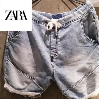 ザラ(ZARA)の【ケミカル】ZARAスウェットデニム ブラックアイパッチ STUSSY GDC(ショートパンツ)