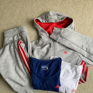 adidas - adidas 150 女児 スポーツウエア 4点セット