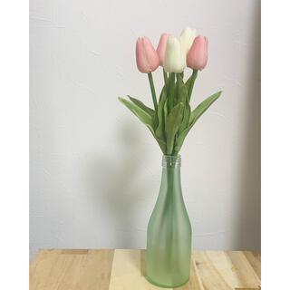 チューリップ 造花(ピンク、白、黄)