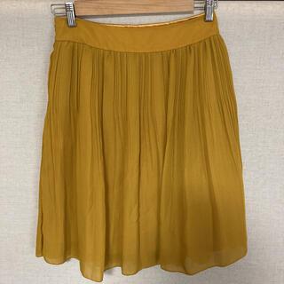 エル(ELLE)のELLE ウエスト70cm プリーツスカート(ひざ丈スカート)