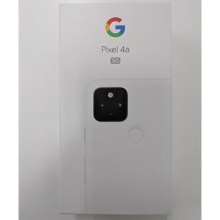 グーグル(Google)のGoogle pixel 4a (5G) Clearly White 128GB(スマートフォン本体)