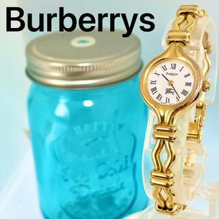 BURBERRY - 160 バーバリー時計 レディース腕時計 アンティーク ゴールド ブレスレット