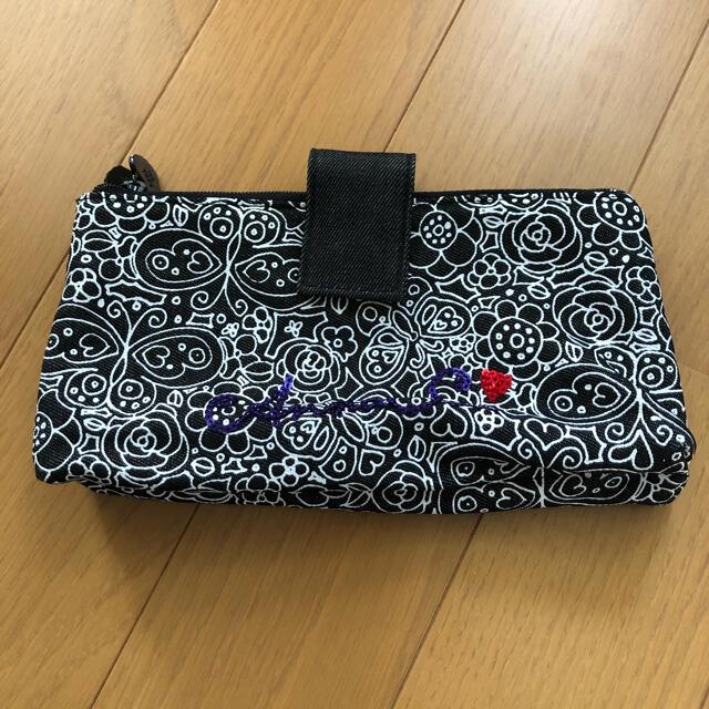 ANNA SUI(アナスイ)のANNA SUI  ブラックデニムポーチ レディースのファッション小物(ポーチ)の商品写真