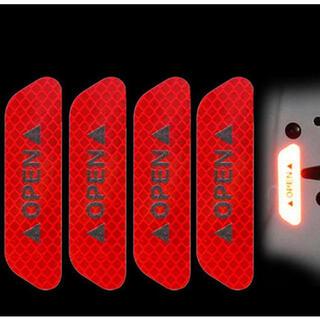 ドアオープン反射ステッカー 赤 新品