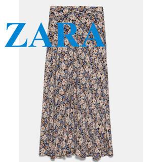 ZARA - ZARA♡フラワーロングスカート
