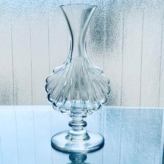 Baccarat - 【極美品】オールドバカラ♢貝がら型の花瓶*シェル フラワーベース