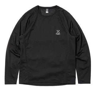Haglofs - HAGLOFS ホグロフス 長袖Tシャツ ハイブリッドプルオーバー黒メンズS新品
