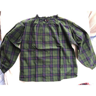 フタフタ(futafuta)のfutafuta  チェックシャツ 140㎝(ブラウス)