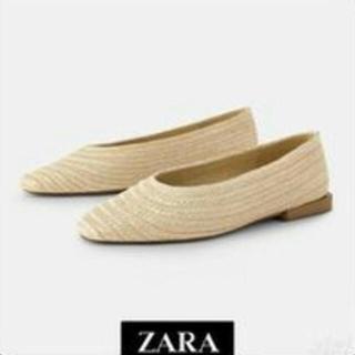 ZARA - zara フラットシューズ 麻サンダル