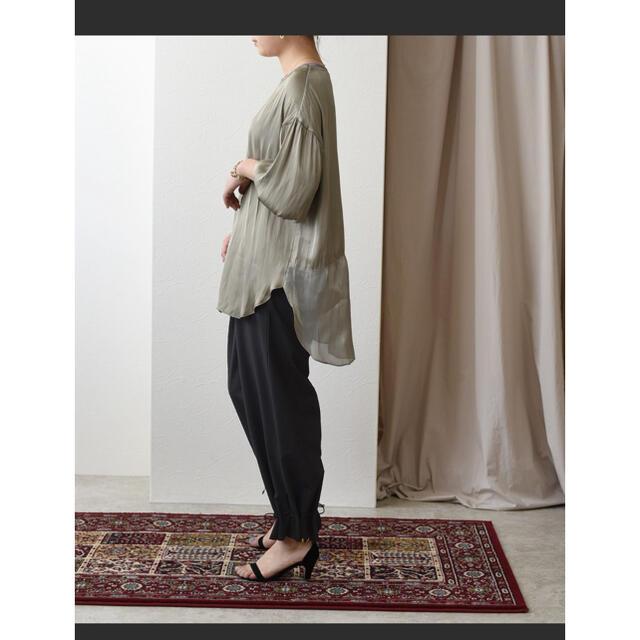 Ameri VINTAGE(アメリヴィンテージ)のEimee Law ドローストリングリラックスパンツ エイミーロウ レディースのパンツ(カジュアルパンツ)の商品写真