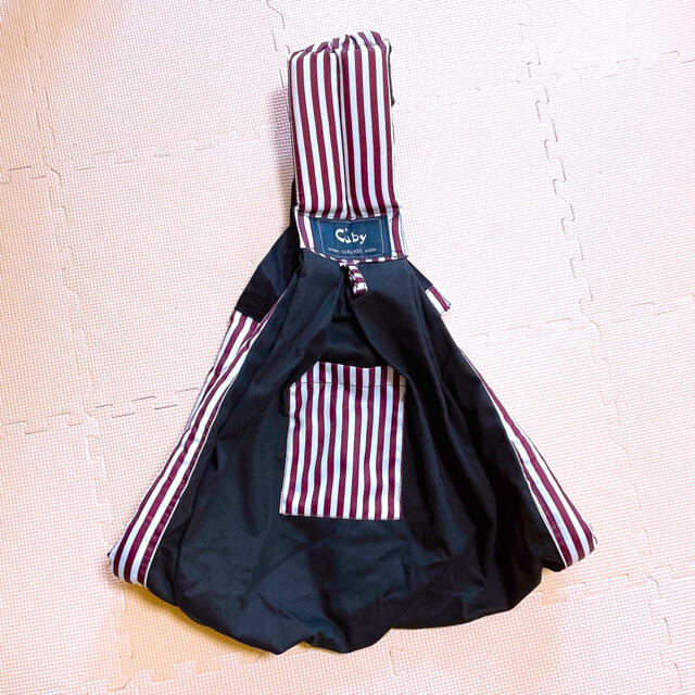 CUBY ベビースリング ベビーキャリア 抱っこひも 対象0~2歳 片肩  キッズ/ベビー/マタニティの外出/移動用品(スリング)の商品写真