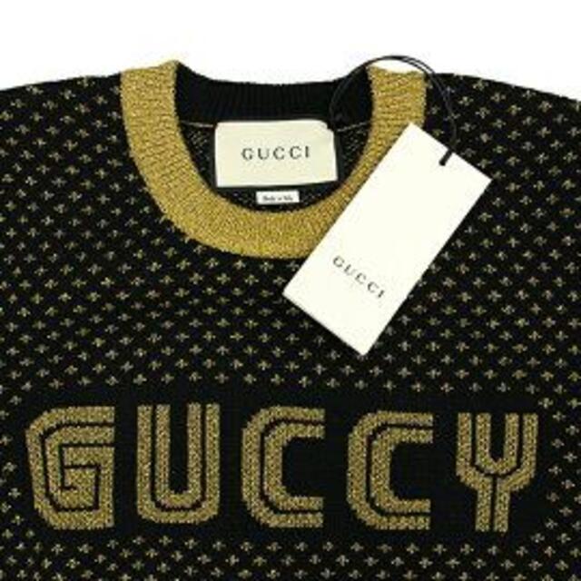 Gucci(グッチ)のGUCCI ニット レディース ブラック 新品 トップス グッチ h-g752 レディースのトップス(ニット/セーター)の商品写真