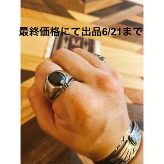 ダブルアールエル(RRL)の超希少!ビンテージヘマタイトシルバーリング  1930's 20号 NAVAJO(リング(指輪))