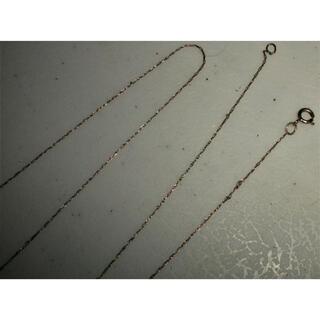 ダブルアールエル(RRL)の超希少&美品!10金ホワイトゴールドチェーン 米国LAアンティークショップ購入(ネックレス)