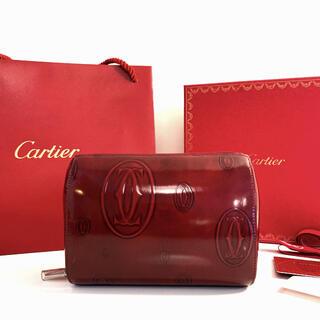 Cartier - 美品☆Cartier ハッピーバースデー☆パテントレザー ポーチ