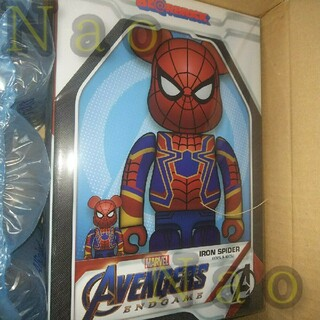MEDICOM TOY - BE@RBRICK IRON SPIDER 100% 400%