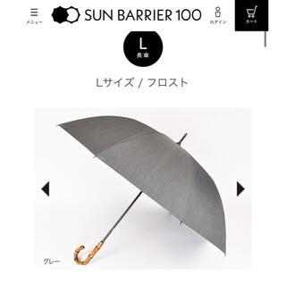 サンバリア 日傘 Lサイズ フロスト グレー 中古品(傘)
