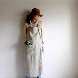 カフェ風・巻きエプロン(収納/キッチン雑貨)