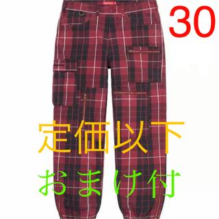 Supreme - supreme cargo flight pant tartan 30サイズ