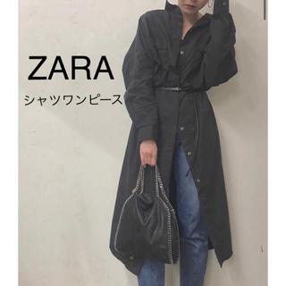 ZARA - 【美品】ZARA  シャツワンピース