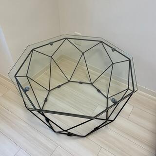 【引取可能】アビタスタイル ガラステーブル センターテーブル(ローテーブル)