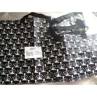 イケア(IKEA)のIKEA イケア 春の新作♪黒の猫柄 エコバッグ S&Mサイズ2枚(エコバッグ)