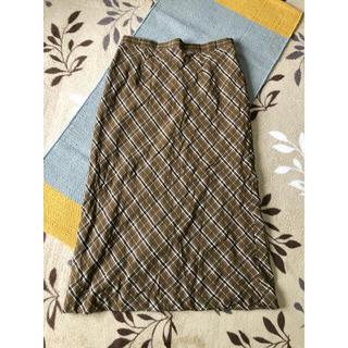 プラスサイズ チェックスカート(ロングスカート)
