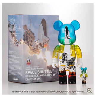 MEDICOM TOY - BE@RBRICK SPACE SHUTTLE 100% 400%