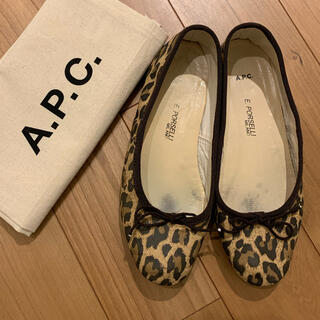 A.P.C - A.P.C.×PORSELLI バレエシューズ 36 レオパード